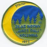 Plakietka III ZŁAZ NOCNY SKT KOLUMNA 1972