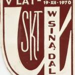 Plakietka V LAT SKT 1970