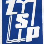 Plakietka ZSP niebieska