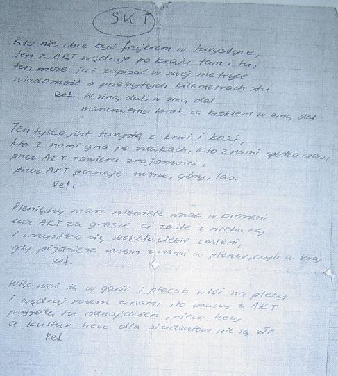 Pierwszy hymn SKT w oryginalnej wersji.